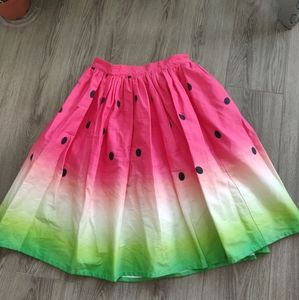 Unique Vintage Watermelon Skirt